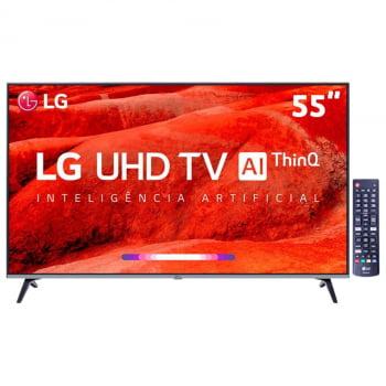 "Smart TV LED 55"" UHD 4K LG 55UM7520PSB com ThinQ AI Inteligência Artificial, IPS, Quad Core, HDR Ativo, DTS Virtual X, WebOS 4.5, Bluetooth e HDMI"